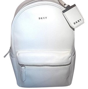 DKNY Heavy Nappa Leather White Messenger Bag