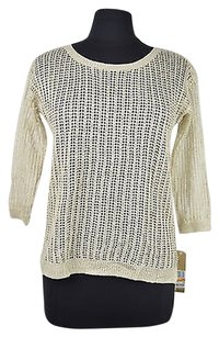 DKNY 47 77 Jeans Crochet Knit 34 Sleeves Size Ps Sweater