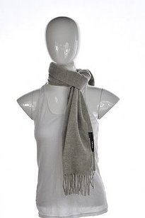 DKNY Dkny Womens Gray Scarf Os Speckled Knit Wool Casual