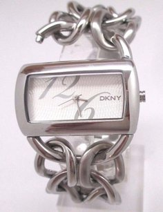 DKNY Dkny Womens Watch Ny4367 Silver Stainless Steel Wide Bracelet Missing Screw