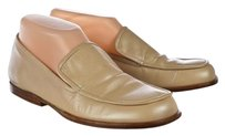 DKNY Womens Metallic Loafers Leather Slip On Beige Flats
