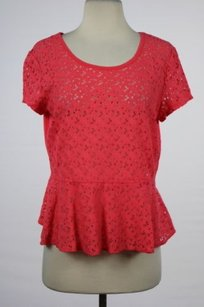 DKNY Womens Cut Out Top Pink