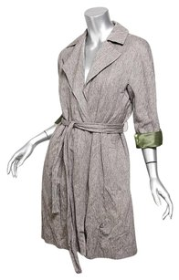 DKNY Womens Cotton Wool Trench Coat
