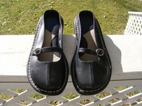 Dockers Leather Black Flats