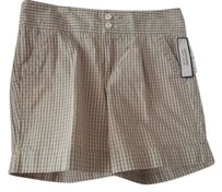 Dockers Casual Cotton Mini/Short Shorts Navy, green, white pattern