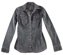 Dolce&Gabbana 38 Charcoal Denim Dolce Ccx Top