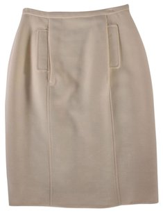 Dolce&Gabbana 44 Cream Dolce Gabbana Nm Skirt