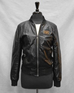 Dolce&Gabbana Dolce Gabbana Leather Black Jacket