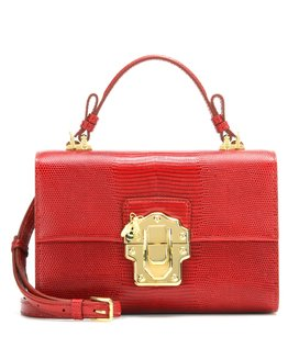 Dolce&Gabbana D&g Lucia Embossed Leather Shoulder Bag