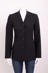 Dolce&Gabbana Dg Black Four Button Notch Collar Classic Suit Tailored Blazer Jacket 440s