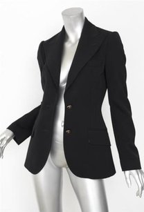 Dolce&Gabbana Dolce Gabbana Womens Classic Black Long-sleeve Two-button Blazer Jacket 0