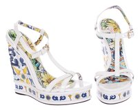 Dolce&Gabbana Dolce And Gabbana D&g Tiles White Wedges