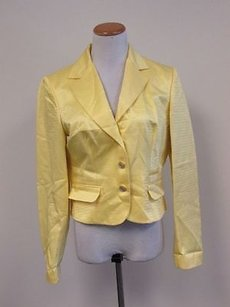 Dolce&Gabbana Dolce Gabbana Yellow Long Sleeves Solid Lined Button Blazer 3246 F218