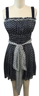 Dolce&Gabbana short dress Blue Dg Navy White Silk Anchors And Stars Tie on Tradesy