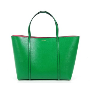 Dolce&Gabbana Gold Hardware Monogram Leather Tote in Green