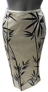 Dolce&Gabbana Pencil W Bamboo Print Skirt Beige and black