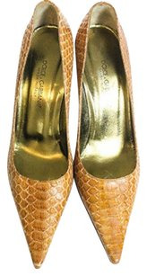 Dolce&Gabbana Snakeskin Made In Italy Brown Pumps