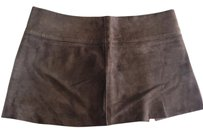 Dolce&Gabbana Suede Leather Mini Skirt Brown