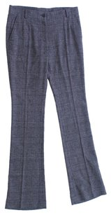 Dolce&Gabbana Wool Polyester Viscose Elastane Plaid Trouser Pants Gray