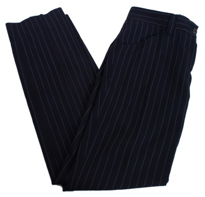 Dolce&Gabbana Wool Trouser Pants PINSTRIPE BLACK