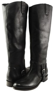 Dolce Vita Luela Leather Womens Designer Knee High 6 Black Boots