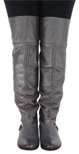 Dolce Vita Womens Knee High Leather Taupe Boots