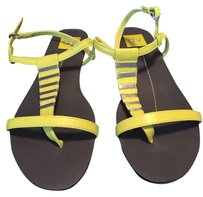 Dolce Vita Yellow W/silver Hardware Sandals