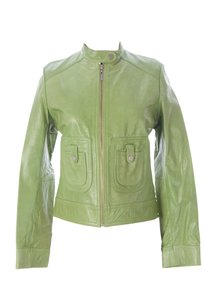 Doma by Luciano Abitboul Coats & Womens Doma_1552_emerald_m Leather Jacket