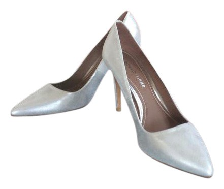 Donald J. Pliner Silver Phillo Leather Pumps Size US 9.5 Regular (M, B)