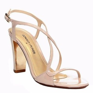 Donald J. Pliner J Patent Leather Arena Strappy Sandal 230479be Nude Pumps