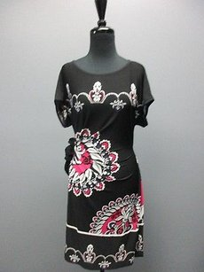 Donna Morgan Short Sleeve Knee Length Paisley Sm7038 Dress