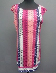 Donna Morgan short dress Pink Blue White on Tradesy