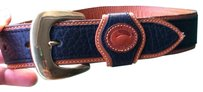 Dooney & Bourke All Wether Leather Brass Bucket Belt