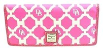 Dooney & Bourke Dooney Bourke Pink Coated Canvas Printed Bifold Flap Organizer Wallet -