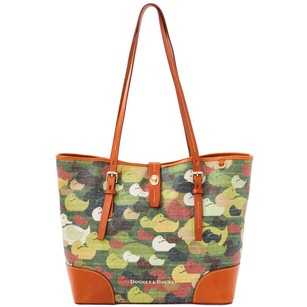 Dooney & Bourke Fabric And Tote Shoulder Bag
