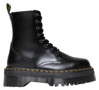 Dr. Martens Ankle Laces Up Stitching Traditional Heel Black Boots
