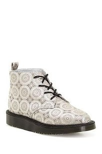 Dr. Martens Bev Byzantium Silk Ankle Boot Silver Boots