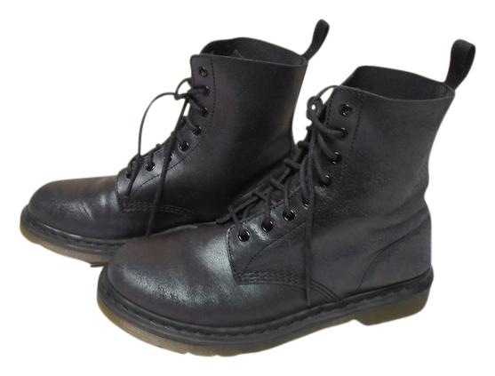 Dr. Martens Pascal Leather Black w/shimmer Boots ...
