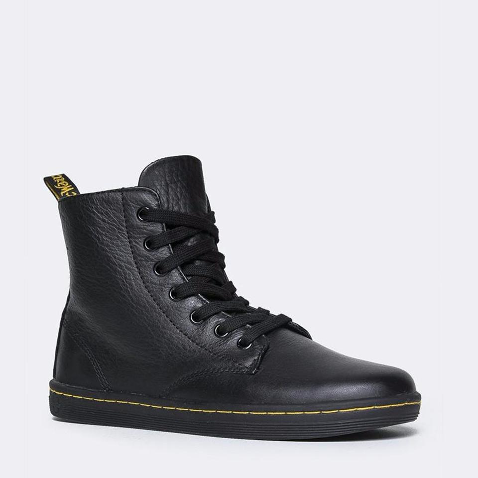 Dr Martens Shoes Black No Yellow Stitching Size