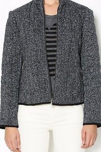 DREW Grey Quilted Charcoal & white Jacket