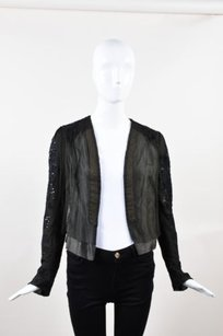 Dries van Noten Silk Black Jacket