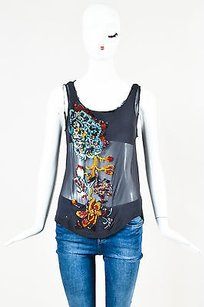 Dries van Noten Blue Red Top Multi-Color
