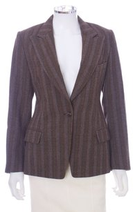 Dries van Noten Wool Cashmere Longsleeve Brown Blazer