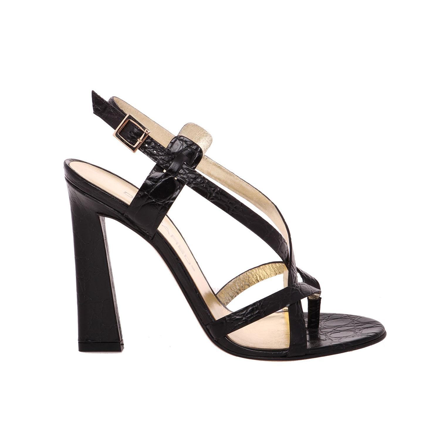 Dsquared² Leather Ankle Strap Sandals free shipping Cheapest PozmojDkXr