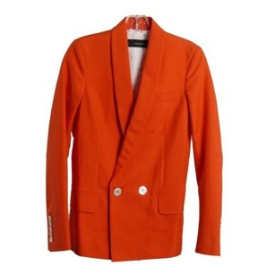 Dsquared2 Dsquared2 Orange Cotton Double Breasted Blazer Eu Rp