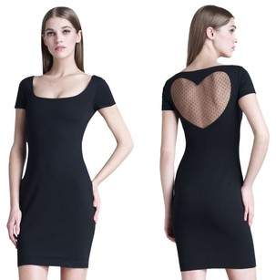 Dsquared2 Heart Date Sheer Cut-out Dress