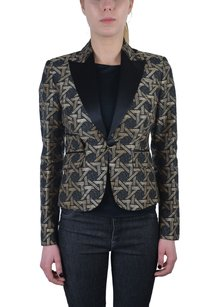 Dsquared2 Dsquared2 Womens Multi-color Tuxedo Style One Button Blazer