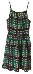 Duro Olowu Watercolor Checkered Spring Midi Sleeveless Dress