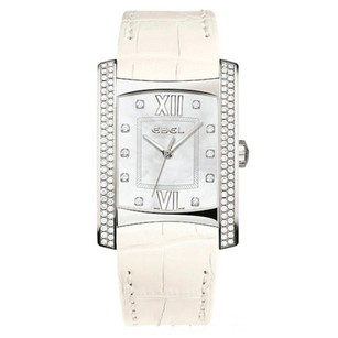 Ebel Brasilia Mother of Pearl Diamond White Leather Ladies Watch