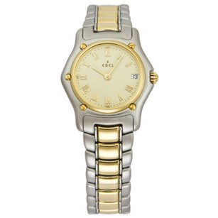 Ebel Classic Mini Champagne Dial Steel 18kt Yellow Gold Ladies Watch